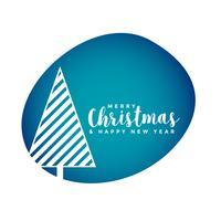 papercut style christmas tree background