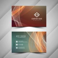 Abstract colorful elegant wavy business card template