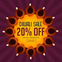 diwali sale background with beautiful diya decoration