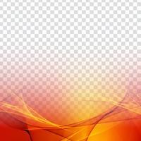 Transparenter moderner Hintergrund der abstrakten bunten Welle