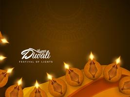 Abstract Happy Diwali beautiful decorative background vector
