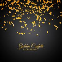 Abstract golden confetti decorative background