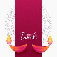 decorative diwali diya artistic background