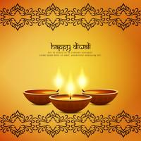 Abstract artistic Happy Diwali decorative background vector