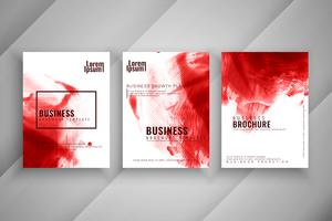 Abstract watercolor business brochure set vector