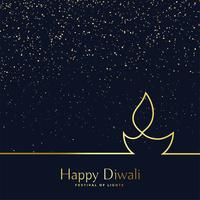 creative line art diwali diya background
