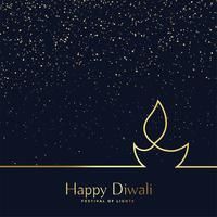 arte criativa linha diwali diya fundo