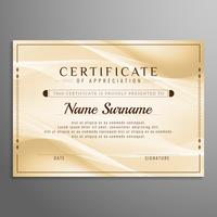 Abstract certificate wavy background design