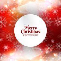 Abstract Merry Christmas bright red background