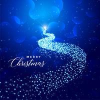 kreativt julgran med gnistrar
