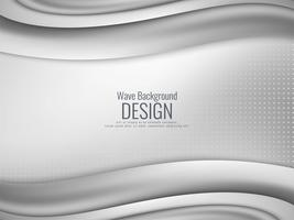 Abstract stylish grey wavy background
