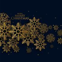 golden christmas snowflakes on black background