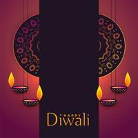diwali festival hälsning bakgrund med textutrymme