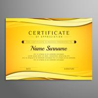 Abstract certificate bright wavy background design