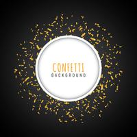 Abstract golden confetti modern background