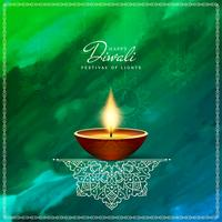 Abstract artistic Happy Diwali background;