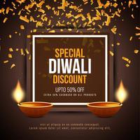Abstrakt Glad Diwali rabatt erbjuda bakgrund