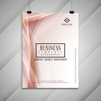Diseño de plantilla de folleto de negocio ondulado abstracto