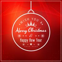 Abstract Merry Christmas red background