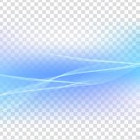 Abstract blue wave transparent background