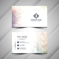 Abstract halftone business card template