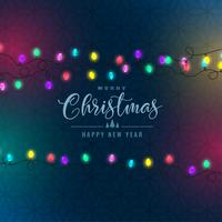 stylish christmas festival colorful lights background
