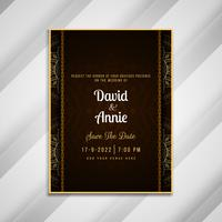 Abstract beautiful wedding invitation card template design