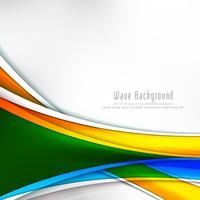 Abstracte kleurrijke golf stijlvolle achtergrond
