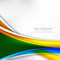 Abstrakt färgrik våg stilig bakgrund