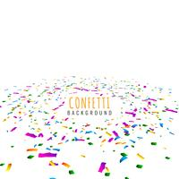 Abstract colorful confetti decorative background vector