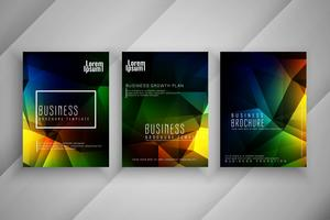 Abstract business brochure template set