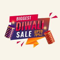 diwali abstract sale banner with crackers