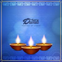 Abstract Happy Diwali beautiful greeting background