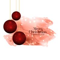 Abstract Merry Christmas greeting background
