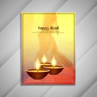 Abstrakt Happy Diwali broschyrdesign;