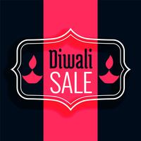 happy diwali sale background in flat colors
