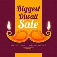 creative design of diwali sale banner