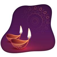 beautiful happy diwali diya abstract background