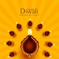 beautiful diwali diya decoration background
