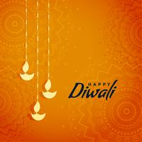 elegantes traditionelles diwali Festivalgrußdesign