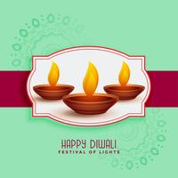 traditional happy diwali festival greeting card design
