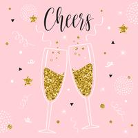 Illustration vectorielle de Champagne Toast
