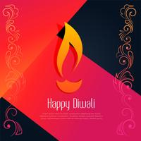 abstract happy diwali creative design background