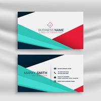 modern geometric style business card template