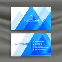 conception de carte de visite abstrait bleu