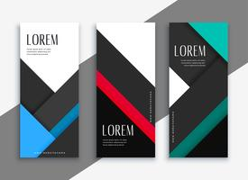business style geometric banner design