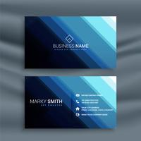 cartão de visita de linha azul estilo abstrato
