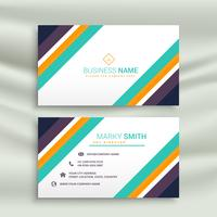 stylish modern line business card design