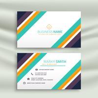 design de cartão de visita elegante linha moderna