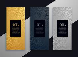 luxury vertical beautiful banner design